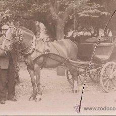 Postales: POSTAL FOTOGRAFICA ANTIGUA DE COCHE DE CABALLOS. Lote 26403540