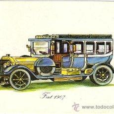 Postales: -21818 ¡¡ POSTAL COCHE FIAT 1907, SIN CIRCULAR, ADHESIVE, NUEVA POSTAL, S.A. !!. Lote 21555017
