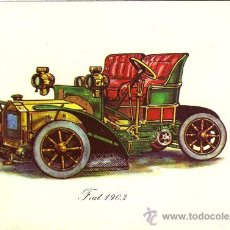 Postales: -21819 ¡¡ POSTAL COCHE FIAT 1903, SIN CIRCULAR, ADHESIVE, NUEVA POSTAL, S.A. !!. Lote 21555053