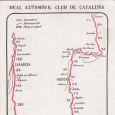 Postales: REAL AUTOMOVIL CLUB DE CATALUÑA: ITINERARIO NUMERO XXIX. BONITA Y RARA TARJETA POSTAL ANTIGUA.. Lote 22936343