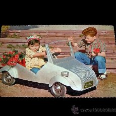 Postales: ANTIGUA POSTAL NIÑOS BISCUTER VOISIN SAUQUILLO BASOLI CIRCULADA ORIGINAL AÑO 1957. . . Lote 27596764