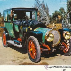 Postales: COUPÉ VILLE DELAUNAY-BELLEVILLE DEL AÑO 1911, POSTAL FRANCESA. Lote 26566447