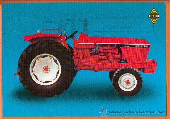 TRACTOR RENAULT - FABRICADO EN BURGOS - ED. SAMA RENAULT - IMP. EVAGRAF - AÑO 1972 (Postales - Postales Temáticas - Coches y Automóviles)