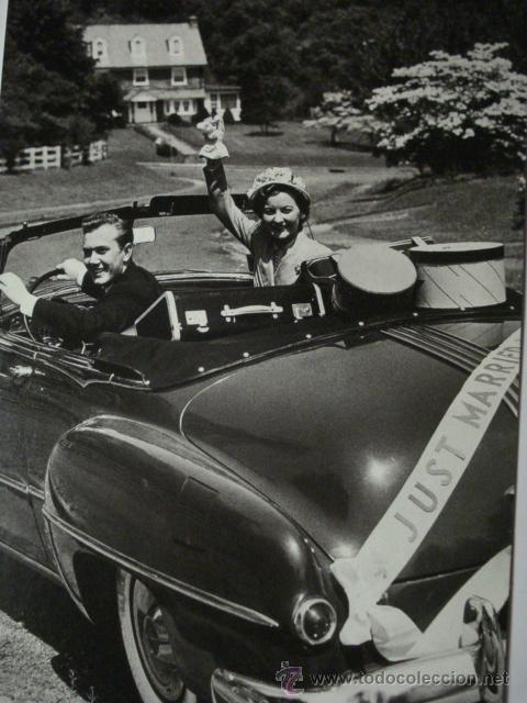 401 BODA PRECIOSA POSTAL DE COCHE AUTO CAR - COPIA MODERNA DE FOTOS ANTIGUAS - AÑOS 1980-1998 (Postales - Postales Temáticas - Coches y Automóviles)