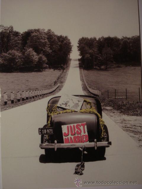 402 BODA PRECIOSA POSTAL DE COCHE AUTO CAR - COPIA MODERNA DE FOTOS ANTIGUAS - AÑOS 1980-1998 (Postales - Postales Temáticas - Coches y Automóviles)