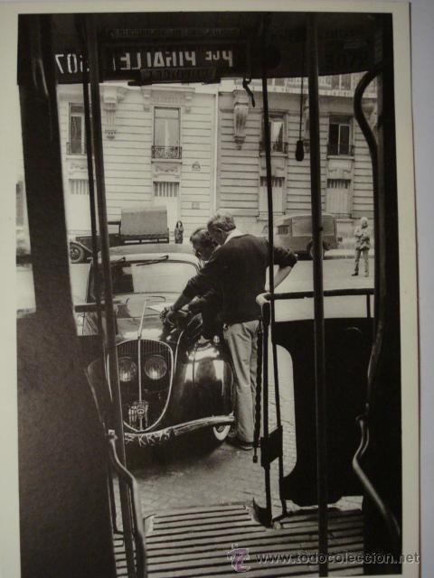 412 PARIS PRECIOSA POSTAL DE COCHE AUTO CAR - COPIA MODERNA DE FOTOS ANTIGUAS - AÑOS 1980-1998 (Postales - Postales Temáticas - Coches y Automóviles)