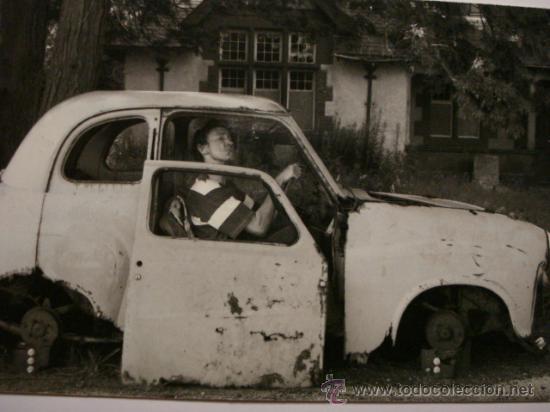 420 COMICA PRECIOSA POSTAL DE COCHE AUTO CAR - COPIA MODERNA DE FOTOS ANTIGUAS - AÑOS 1980-1998 (Postales - Postales Temáticas - Coches y Automóviles)
