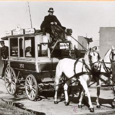 Postales: POST 585 - AUTOBUS SERIE 1 - ZWEISPANNIGER PFERDEOMNIBUS BAUJAHR 1897. Lote 28544217