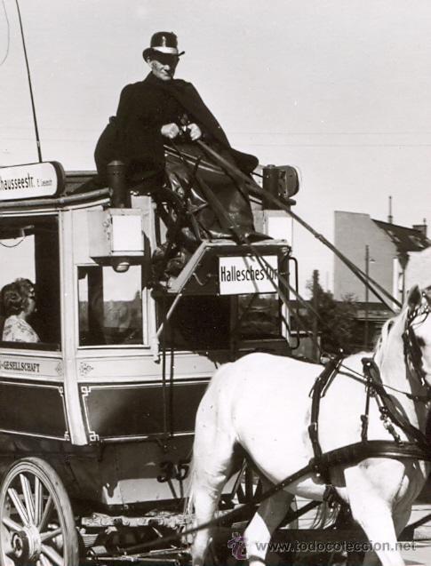 Postales: POST 585 - AUTOBUS SERIE 1 - ZWEISPANNIGER PFERDEOMNIBUS BAUJAHR 1897 - Foto 2 - 28544217