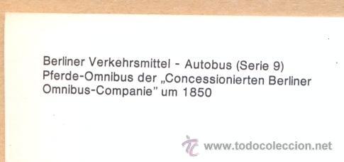 Postales: POST 586 - AUTOBUS SERIE 9 - OMNIBUS COMPANIE UM 1850 - Foto 4 - 28544317