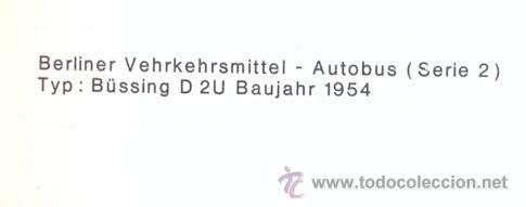 Postales: POST 587 - AUTOBUS SERIE 2 - BUSSING D 2 U BAUJAHR 1954 - Foto 4 - 28544752
