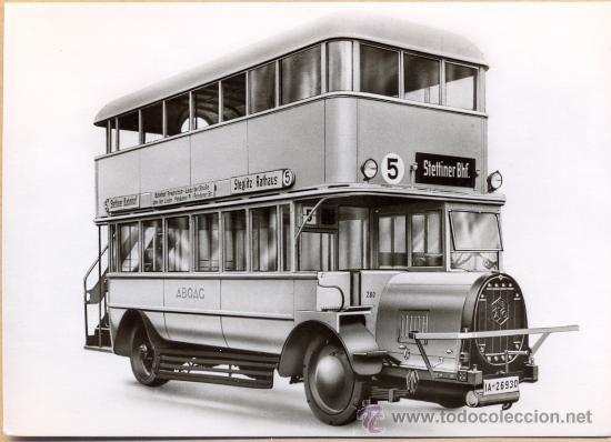 POST 591 - AUTOBUS SERIE 1 - TYP NAG K O 9/1 BAUJAHR 1925 (Postales - Postales Temáticas - Coches y Automóviles)