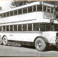 Postales: POST 596 - AUTOBUS SERIE 6 - BUSSING - DREIACHS DD BAUJAHR 1927. Lote 28545973