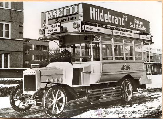 POST 597 - AUTOBUS SERIE 2 - RK WAGEN BAUJAHR 1913 (Postales - Postales Temáticas - Coches y Automóviles)