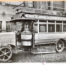 Postales: POST 598 - AUTOBUS SERIE 9 - SAUGGASWAGEN , BAUJAHR 1922. Lote 28546114