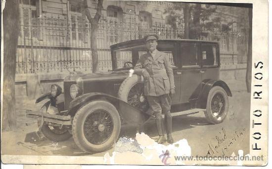 PS3233 POSTAL FOTOGRÁFICA DE AUTOMÓVIL Y CHÓFER. FOTO RÍOS. MADRID, 18 DE ABRIL DE 1926 (Postales - Postales Temáticas - Coches y Automóviles)