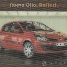 Postales: CLIO DE REANAULT (ES TRIDIMENSIONAL, AL MOVERSE CAMBIA LA IMAGEN). Lote 29754708