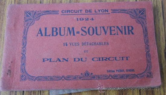 ÁLBUM 15 POSTALES .. CIRCUIT DE LYON 1924 (Postales - Postales Temáticas - Coches y Automóviles)