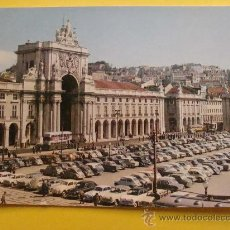 Postales: POSTAL DE COCHES. VOLKSWAGEN ESCARABAJO, SEAT 600, MINI AUTHI. LISBOA. 929 . Lote 32950157