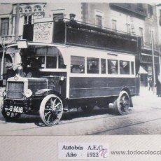 Postales: ANTIGUA POSTAL DE AUTOBÚS A.F.C. AÑO 1922. Lote 33557662
