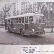 Postales: ANTIGUA POSTAL DE AUTOBÚS PEGASO AÑO 1964. Lote 33557705