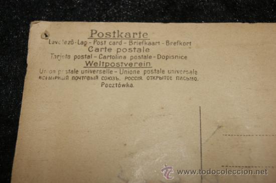 Postales: Antigua postal troquelada con automovil metalico - Foto 4 - 34072471
