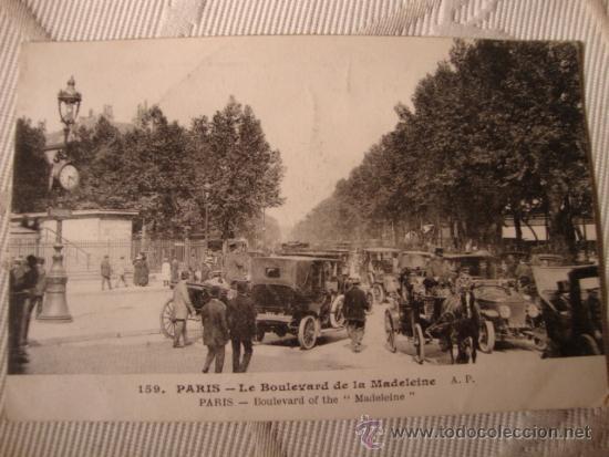 TARJETA POSTAL FOTOGRAFICA P.P.S.XX, COCHES AUTOMOVILES, PARIS, CA. 1915 (Postales - Postales Temáticas - Coches y Automóviles)