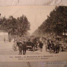 Postales: TARJETA POSTAL FOTOGRAFICA P.P.S.XX, COCHES AUTOMOVILES, PARIS, CA. 1915. Lote 34094824