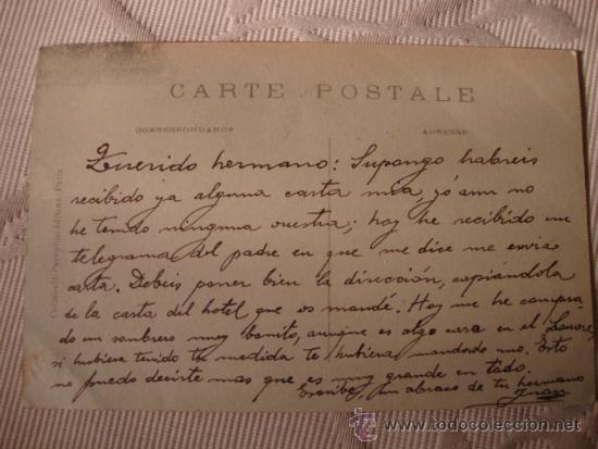 Postales: TARJETA POSTAL FOTOGRAFICA P.P.S.XX, COCHES AUTOMOVILES, PARIS, CA. 1915 - Foto 2 - 34094824