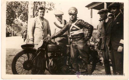 POSTAL CARRERA MOTOS CIRCUITO LEVANTE 1929 (Postales - Postales Temáticas - Coches y Automóviles)