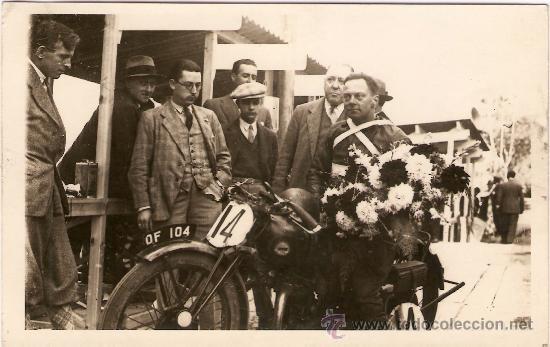POSTAL CARRERA CIRCUITO LEVANTE 1929 (Postales - Postales Temáticas - Coches y Automóviles)