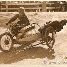 Postales: POSTAL FOTOGRAFICA CARRERA SIDECARS CIRCUITO LEVANTE 1925. Lote 34405320