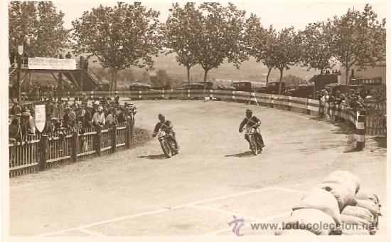 POSTAL FOTOGRAFICA CARRERA MOTOS SEIS HORAS CIRCUITO CARDEDEU 1930 (Postales - Postales Temáticas - Coches y Automóviles)