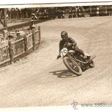 Postales: POSTAL FOTOGRAFICA CARRERA MOTOS CIRCUITO CARDEDEU 1929. Lote 34405527