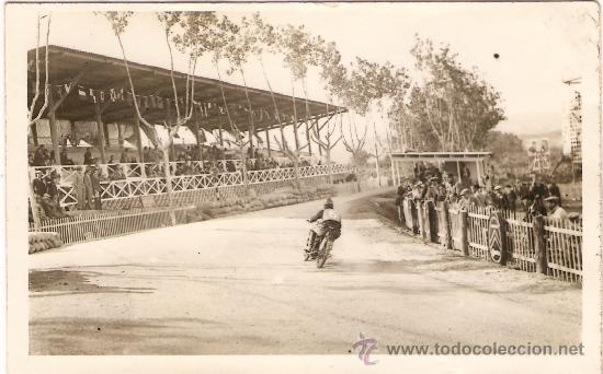 POSTAL FOTOGRAFICA CARRERA MOTOS CIRCUITO CARDEDEU 1929 (Postales - Postales Temáticas - Coches y Automóviles)