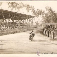 Postales: POSTAL FOTOGRAFICA CARRERA MOTOS CIRCUITO CARDEDEU 1929. Lote 34405610