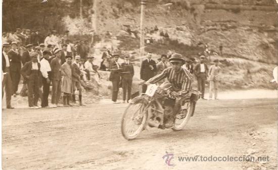POSTAL FOTOGRAFICA CARRERA MOTOS REGULARIDAD 1921 (Postales - Postales Temáticas - Coches y Automóviles)