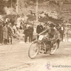Postales: POSTAL FOTOGRAFICA CARRERA MOTOS REGULARIDAD 1921. Lote 34405695