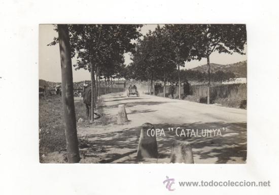 POSTAL FOTOGRAFICA COPA CATALUNYA. CARRERA DE COCHES. AUTOMOVILISMO. SIN CIRCULAR. (Postales - Postales Temáticas - Coches y Automóviles)