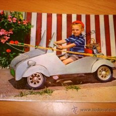 Postales: BISCUTER A PEDALES POSTAL 1958. Lote 36598016
