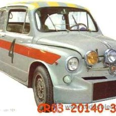 Postales: ANTIGUA POSTAL COCHE RALLYE FIAT ABARTH 1000 TCR (AÑOS 60) A ESTRENAR. Lote 38424718