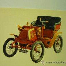 Postales: POSTAL COCHE ANTIGUO - GEORGES RICHARD 1900. Lote 38781960