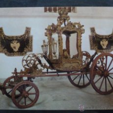 Postales: POSTAL COCHE DE CABALLOS MUSEO NACIONAL DE COCHES DE LISBOA .PORTUGAL. BILHETE POSTAL. Lote 39651777