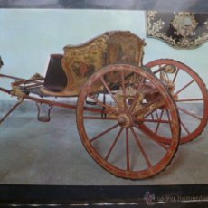 Postales: POSTAL COCHE DE CABALLOS MUSEO NACIONAL DE COCHES DE LISBOA .PORTUGAL. BILHETE POSTAL. Lote 39651831