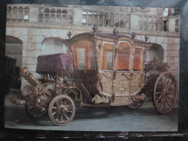 POSTAL COCHE DE CABALLOS MUSEO NACIONAL DE COCHES DE LISBOA .PORTUGAL. BILHETE POSTAL (Postales - Postales Temáticas - Coches y Automóviles)
