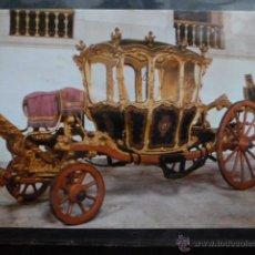 Postales: POSTAL COCHE DE CABALLOS MUSEO NACIONAL DE COCHES DE LISBOA .PORTUGAL. BILHETE POSTAL. Lote 39652077
