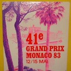 Postales: POSTAL DE AUTOMÓVIL COCHE DE CARRERAS F.1 MÓNACO 1983 . Lote 40119521