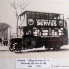 Postales: ANTIGUA POSTAL DE AUTOBUS TILLING STEVENS TS 4X DEL AÑO 1930. Lote 40184150