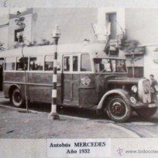 Postales: ANTIGUA POSTAL DE AUTOBÚS MERCEDES AÑO 1932. Lote 40184317