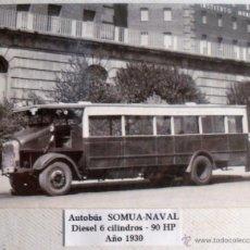 Postales: ANTIGUA POSTAL DE AUTOBÚS SOMUA NAVAL AÑO 1930. Lote 40184470